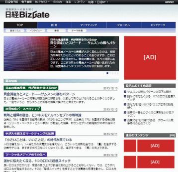日経電子版 専門サイト広告